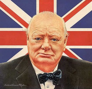 Winston Churchill or anglophile newborn?