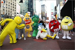 Where's Kool-Aid Man? I didn't pay all this money to meet a mustard bottle and a bald guy. (courtesy of www.realtimeadvertisingweek.com)