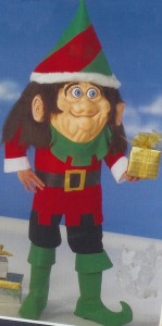 Just how I like my Christmas elves... large, creepy and two-faced.