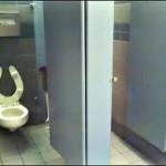 mens public bathroom stall